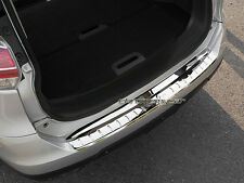 Stainless Bumper Rear Step Panel Boot Protector for Nissan X-trail T32 2014-17