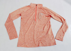 Under Armour Women's L/S Tech Twist Half Zip Pullover MP7 Peach Plasma Medium