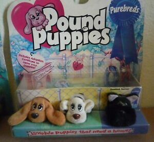 Pound Puppies Galoob 1997 Scottish Terrier set new in box