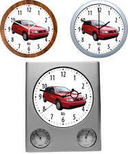 Wall Clock with Car Motive: CAR BRAND S Part 1/2 - 3 Different Watch Models Car