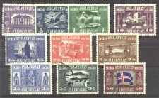 ICELAND #152-61 Mint / Used - 1930 Parliament Issue ($113)