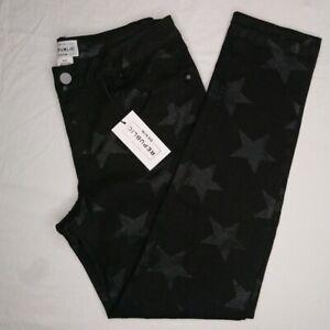 NWT For The Republic Women's Denim Rockstar Ankle Jeans Black Size 4/26