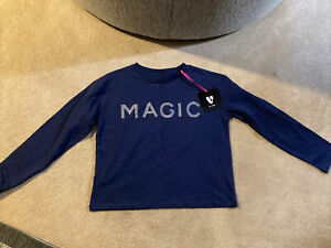 Girls Navy Magic Embellished Top BNWT Very Age 10 Years