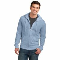 District Young Mens Jersey Full-Zip Up Hoodie Light Weight Layerable Soft DT1100