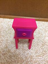 2011 Barbie Doll Sleeptime Hot Pink Lips Teen Nightstand Table Bedroom Furniture