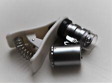 Handy Mikroskop 60x Vergrößerung mit Beleuchtung (Lichtmikroskopie)