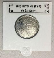 2013 25 cent 1 coloured /& 1 uncoloured de Salaberry Quarters Pair $0.25