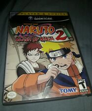 naruto Clash of Ninja 2 Gamecube replacement case and manual only