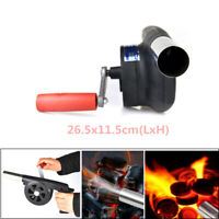 Barbecue Mini Fan Air Blower BBQ Picnic Cooking Manual Crank Cooking Hiking