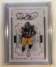 2016 Panini National Treasures Signature Steelers HOF Jerome Bettis Auto #'d /10