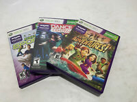 Lot of 3 Xbox 360 Kinect Games Dance Central, Adventures, Sports | Tested Good