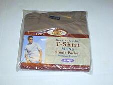 MENS TAN POCKET T SHIRT XL NEW FREE S/H