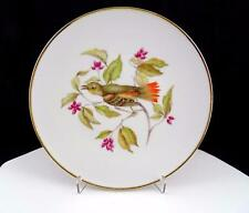 "BAVARIA GERMANY DEBRA #6496 BIRD AND PINK BERRY BRANCH 7 3/4"" CABINET PLATE"