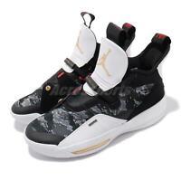 Nike Air Jordan XXXIII PF 33 Black Camo Gold Mens Basketball Shoes BV5072-016