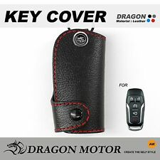 Leather Key fob Holder Case Chain Cover fit For FORD Fusion edge explorer KUGA
