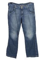 Vintage Mustang Mid Waist Unisex Denim Jeans Size W35 L33 Mid Blue - J4655
