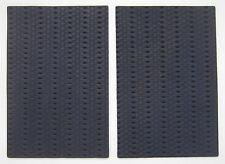2 MORCEAUX CUIR DE MOUTON VEGETAL BLEU GRIS MAT 10.00x15.00 cm 1° CHOIX