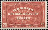 Canada Mint NH 1930 F+ Scott #E4 20c Special Delivery Stamp