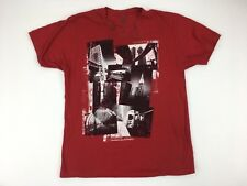 Structure Men's Short Sleeve T-Shirt Red NYC Size XL 100% Cotton Photos
