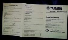 11 stk abe YAMAHA RD 80 MX Betriebserlaubnis Blanko Leichtkraftrad  BRD papiere