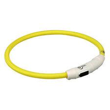 Trixie Flash Leuchtring USB Gelb - L-XL