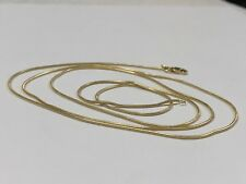 "14K Yellow Gold Snake Chain 1mm (30.25"") - 6.7 Grams"