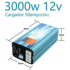 Inversor Onda Pura 12v 3000w Con Cargador 50A