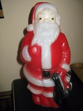 "1968 Vintage Empire Plastic Blow Mold Santa Claus Figurine 14"" Tall"