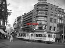 PHOTO  BELGIUM TRAMS 1959 LIEGE TL 4-WHEEL CARS  TRAM  NO 176/708 ON ROUTE 1