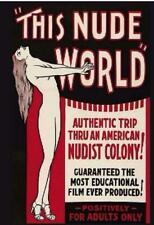 This Nude World - Dvd - 1930's Documentary - New