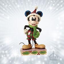 Merry Mickey Mouse Maus  Jim Shore Disney Traditions Dekofigur Weihnacht 4051966
