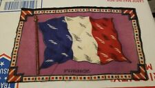 Antique Felt Tobacco Cigarette Cigar Premium Flag Large France Flag 1900s
