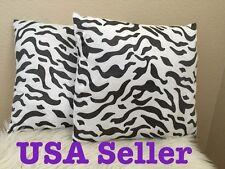 2x Home Decorative Zebra Leopard Print Cushion Cover Sofa Pillow