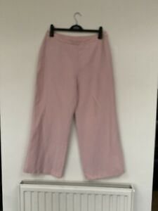 Marks And Spencer Ladies Silk And Linen Trousers
