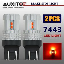 AUXITO 2x 7443R 7443 7440 LED Brake Tail Stop Light Super Bright Pure RED Bulbs