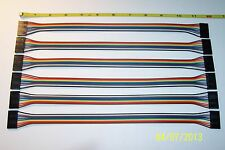6 PCS OF A 8 PIN , FEMALE TO FEMALE , 2.54 MM , DUPONT WIRE JUMPER , NEW !!