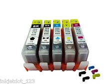 5 Refillable Ink Cartridges SET For HP HP 564 564XL PhotoSmart 7520 7515 7510