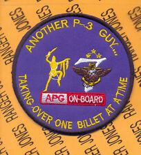 US Navy Seventh Fleet 7th P-3 Guy APG On Board Aviation pocket patch