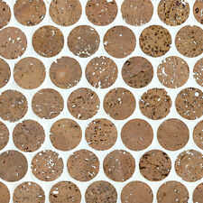 "24 sqft of 1"" Cork Mosaic Tile for Floors, Walls, Bathroom, Kitchen! Ships Free!"