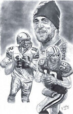 Aaron Rodgers Green Bay Packers poster picture sketch ART