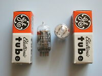 NOS Röhren General Electric 6211, ECC802S, ECC82, 1gemPaar, tubes clear top