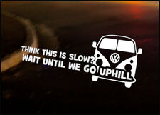 SLOW UPHILL Car Decal Sticker VW Camper Bus Transporter Aircooled T1 T25 T4 T5