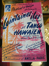 Partition Lointaines iles et Tango Hawaien Jean Leroy Anella Music Sheet