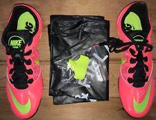 Nike Zoom Rival Track Shoes Bag & Spikes Men's 8 Women's 9 Black/Pink/Neon Nib