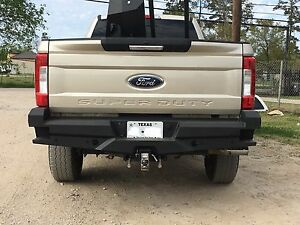 New Ranch Style Smooth Rear Bumper 2017 2018 2019 2020 Ford F250 F350 Super Duty