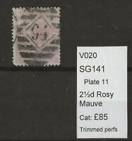 GB Queen Victoria Surface Printed SG141 Plate 11
