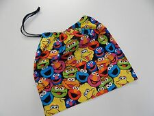 Library Bag Kindy Daycare Swimming Drawstring Tote - Bright Sesame Street