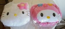 Hello Kitty and My Melody Plush Car Head Rest Pillows, Never Used