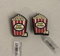 Lot Of 2 Popcorn Bucket Clogs Jibbitz Charms 2019 Genuine New!!
