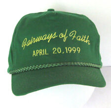 Green Baseball Cap Methodist Fairways of Faith Hat Adjustible Falcon Headwear